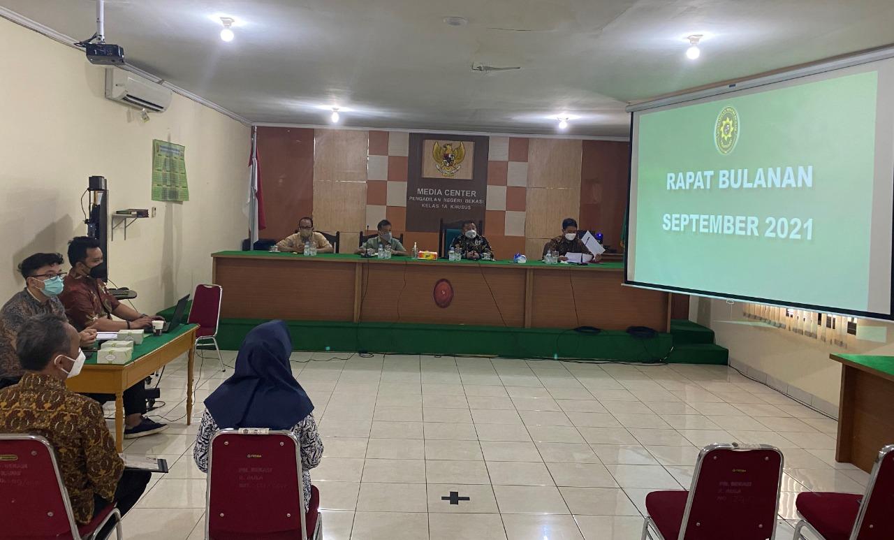 Rapat Dinas Bulan September Pengadilan Negeri Bekasi